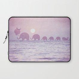 Elephants - a dream walk Laptop Sleeve