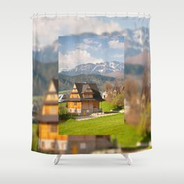 village in Tatra Country Shower Curtain