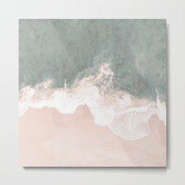 Beautiful Turquoise Lace Seashore And Ocean Metal Print