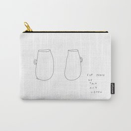 For Peace - coffee cup illustration Carry-All Pouch
