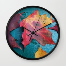 WithrowLeaves Wall Clock