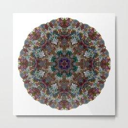 Hallucination Mandala 4 Metal Print