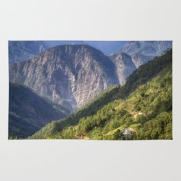 High in the Mountains - Himalayas of Bhutan Rug