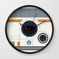 boob Wall Clocks featuring BB-8 by dudsbessa