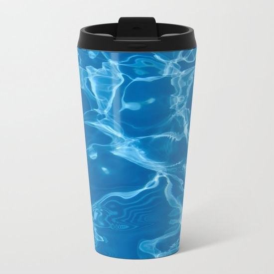 water and summer Metal Travel Mug