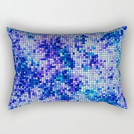 Blue Mosaic Tiles Rectangular Pillow