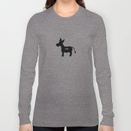 Smart! - Smart Donkey - Funny Art- Silhouette - 57 Montgomery Ave Long Sleeve T-shirt