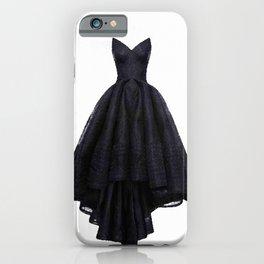 little black dress fashion illustration iPhone Case