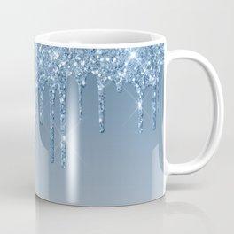 Blue Dripping Glitter Coffee Mug