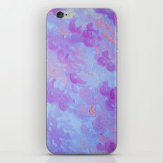 PURPLE PLUMES - Soft Pastel Wispy Lavender Clouds Lilac Plum Periwinkle Abstract Acrylic Painting  iPhone & iPod Skin