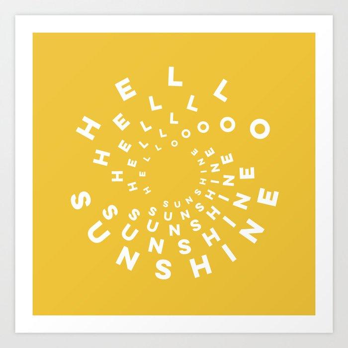 Hello Sunshine #minimal #typography #summervibes Kunstdrucke