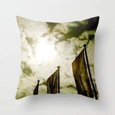 Feed me Clouds Throw Pillow