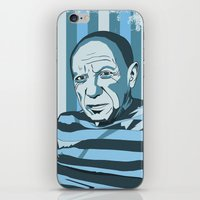 pablo picasso iPhone & iPod Skins featuring Picasso by Alex Bardera
