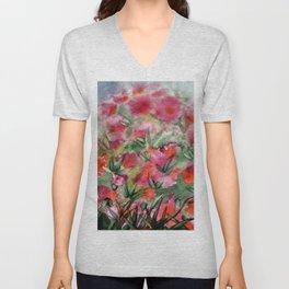 Flowers in the corner Unisex V-Neck