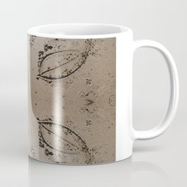 Cornwall Beach Photo 1758 Leaf Sketch Coffee Mug