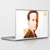 moriarty Laptop & iPad Skins featuring Miss me? - Jim Moriarty by Pash Arts