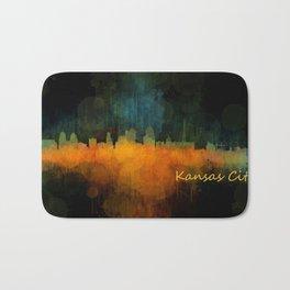 Kansas City Skyline UHq v4 Bath Mat