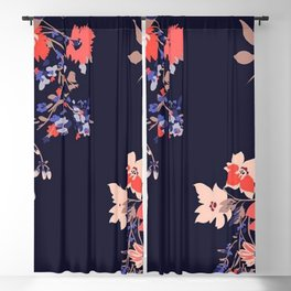 Colorful Night Roses Blackout Curtain