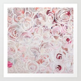Wall of Roses- Light Pink Art Print