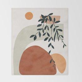 Soft Shapes I Throw Blanket