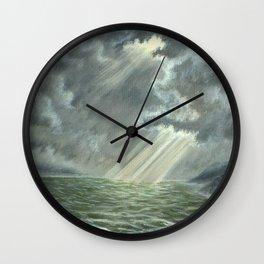 Sunbeams and Rolling Seas Wall Clock