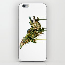 Alligator Watercolor Painting iPhone Skin