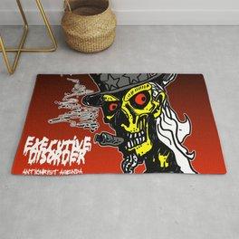 Executive Disorder Antichrist Agenda Art Rug