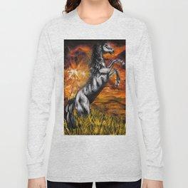 It's always sunny in philadelphia, charlie kelly horse shirt, black stallion Long Sleeve T-shirt