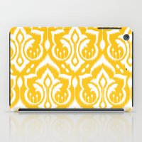 damask iPad Cases featuring Ikat Damask by Patty Sloniger