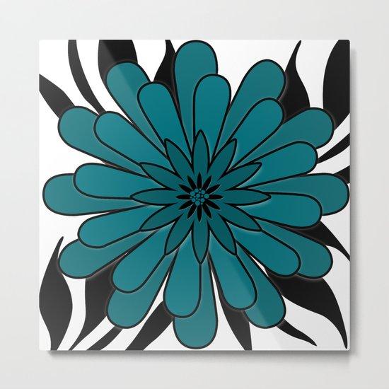 Blue flower . Metal Print