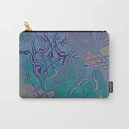 Turkish Pattern Inverted Color Variation Carry-All Pouch