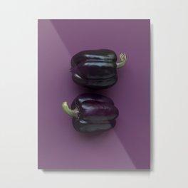 purple bell peppers Metal Print