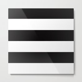 Stripes are the new black Metal Print