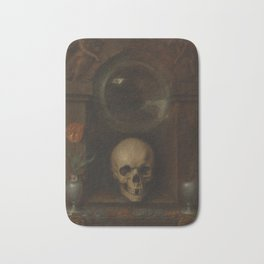 Jacques de Gheyn II - Vanitas Still Life (1603) Bath Mat