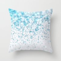 glitter Throw Pillows featuring Glitter by Monika Strigel