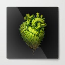Cactus Heart Metal Print