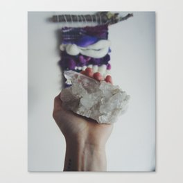 Crystal Vibes Canvas Print