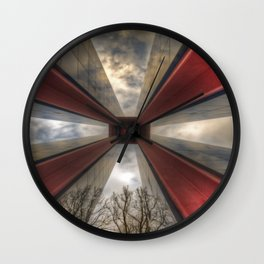 Red in the tower Wall Clock