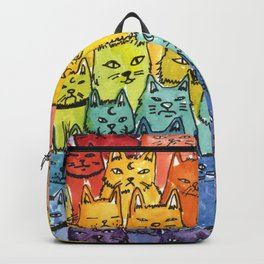 the pride cat rainbow  squad Backpack