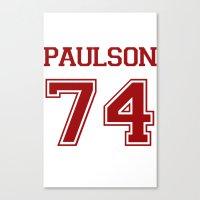 sarah paulson Canvas Prints featuring Sarah Paulson Varsity by NameGame