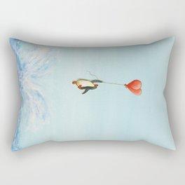 breakthrough penguin Rectangular Pillow