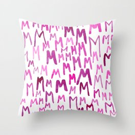 Painted M Throw Pillow
