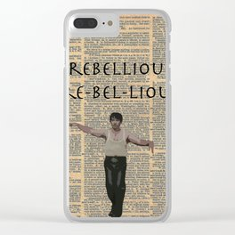 Deacon (Dictionary Page) Clear iPhone Case