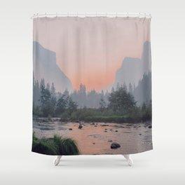 Yosemite Valley Sunrise Pretty Pink Shower Curtain