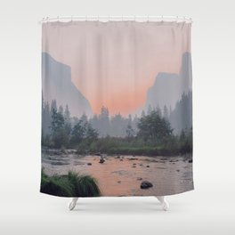 Yosemite Valley Sunrise Pretty Pink Shower Curtain