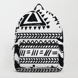 Tribal black and white Backpack