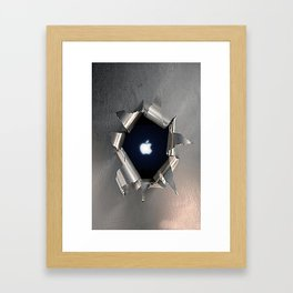 Apple Hole Framed Art Print