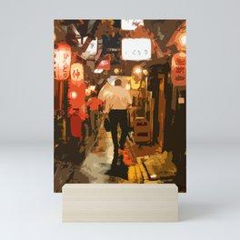 Salaryman Wanders Home Through Shinjuku,Tokyo Mini Art Print