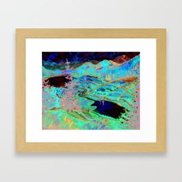 Expressionist Valley - Inspired by Erin Hanson - Print from Original Canvas Painting Framed Art Print