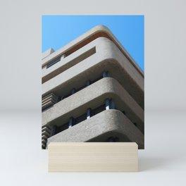 modern architecture - brutalist corner blie sky Mini Art Print